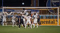 SAN JOSE, CA - SEPTEMBER 05: Lalas Abubakar #6 rises for a header during a game between Colorado Rapids and San Jose Earthquakes at Earthquakes Stadium on September 05, 2020 in San Jose, California.