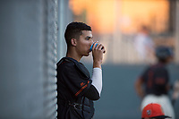 AZL Giants Black catcher Angel Guzman (16) during an Arizona League game against the AZL Angels at the San Francisco Giants Training Complex on July 1, 2018 in Scottsdale, Arizona. The AZL Giants Black defeated the AZL Angels by a score of 4-2. (Zachary Lucy/Four Seam Images)