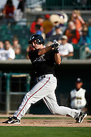 May 19  2007: David Freese of the Lake Elsinore Storm bats against the Lancaster JetHawks at Clear Channel Stadium in Lancaster,CA.  Photo by Larry Goren/Four Seam Images