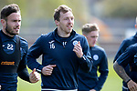 St Johnstone Training…04.05.18<br />David McMillan pictured during training this morning at McDiarmid Park alongside Keith Watson<br />Picture by Graeme Hart.<br />Copyright Perthshire Picture Agency<br />Tel: 01738 623350  Mobile: 07990 594431