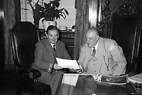 Maurice Duplessis et le maire Camillien Houde, 1948