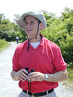 5/31/02_Queens, NY_Congressman Anthony Weiner (D) on a bird watching expedition at the Jamaica Wildlife Conservation Center in Jamaica Bay  Photo ©Neil Schneider/PHOTOlink