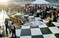 The #10 Pontiac Riley arrives in Victory Lane after winning the Grand Prix od Miami at Homestead-Miami Speedway on Saturday, March 5, 2005.(Grand American Road Racing Photo by Brian Cleary)