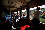 Italie. Italia. Sardaigne. Sardinia.Trenine Verdo qui sillonne l'arrière pays de la Barbagia depuis Arbatax. train touristique