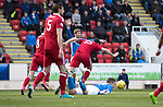 St Johnstone v Aberdeen…15.04.17     SPFL    McDiarmid Park<br />Anthony O'Connor fouls Steven MacLean fro a penalty<br />Picture by Graeme Hart.<br />Copyright Perthshire Picture Agency<br />Tel: 01738 623350  Mobile: 07990 594431