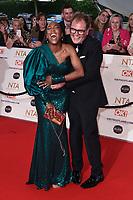 Alan Carr and Angelica Bell<br /> arriving for the National Television Awards 2021, O2 Arena, London<br /> <br /> ©Ash Knotek  D3572  09/09/2021