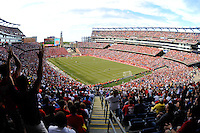 Fans watch during the first half. The men's national team of Spain (ESP) defeated the United States (USA) 4-0 during a International friendly at Gillette Stadium in Foxborough, MA, on June 04, 2011.