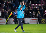 Hearts v St Johnstone…26.01.19…   Tynecastle    SPFL<br />Tommy Wright applauds the fans at full time<br />Picture by Graeme Hart. <br />Copyright Perthshire Picture Agency<br />Tel: 01738 623350  Mobile: 07990 594431