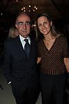 """GIANCARLO LEONE CON LA MOGLIE DIAMARA PARODI<br /> PRESENTAZIONE SIGARO TOSCANO """"OPERA """" MST A VILLA AURELIA  ROMA 2014"""