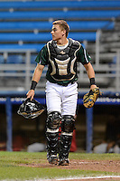 Jamestown Jammers catcher Reese McGuire (7) during a game against the State College Spikes on September 3, 2013 at Russell Diethrick Park in Jamestown, New York.  State College defeated Jamestown 3-1.  (Mike Janes/Four Seam Images)