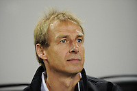 United States head coach Jurgen Klinsmann. The men's national team of the United States (USA) was defeated by Ecuador (ECU) 1-0 during an international friendly at Red Bull Arena in Harrison, NJ, on October 11, 2011.