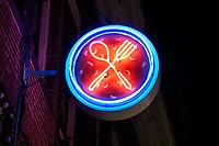 Nederland  Amsterdam 14 december 2020.  Horeca. Neon verlichting. ( Alleen voor redactionele doeleinden )   Foto : ANP/ HH / Berlinda van Dam