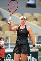 6th June 2021; Roland Garros, Paris France; French Open tennis championships day 8;  Attitude - Joie de Elena Rybakina ( KAZ )