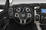 Car pictures of steering wheel view of a 2015 Ram 3500 Laramie Mega Cab 4 Door Van