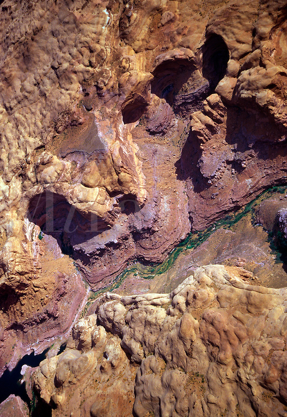A deep but narrow canyon holds Navajo Creek in its path into Lake Powell