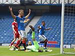 15.05.2021 Rangers v Aberdeen: Rangers celebrate as Joe Lewis scores an OG