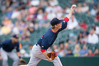 Pawtucket Red Sox starting pitcher Henry Owens (33) delivers a pitch to the plate against the Charlotte Knights at BB&T BallPark on July 6, 2016 in Charlotte, North Carolina.  The Knights defeated the Red Sox 8-6.  (Brian Westerholt/Four Seam Images)