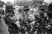 Following the fall of president Suharto, protesters in the streets of Jakarta, Indonesia.
