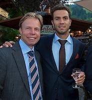 Austria, Kitzbuhel, Juli 15, 2015, Tennis, Davis Cup, Dutch team, Official dinner, Erik Poel and Jean-Julien Rojer<br /> Photo: Tennisimages/Henk Koster