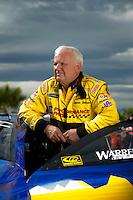 Oct. 31, 2008; Las Vegas, NV, USA: NHRA pro stock driver Warren Johnson during qualifying for the Las Vegas Nationals at The Strip in Las Vegas. Mandatory Credit: Mark J. Rebilas-