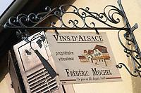 wrought iron sign dom frederic mochel traenheim alsace france