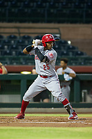 AZL Reds designated hitter Jonathan Willems (25) at bat against the AZL Giants on August 12, 2017 at Scottsdale Stadium in Scottsdale, Arizona. AZL Giants defeated the AZL Reds 1-0. (Zachary Lucy/Four Seam Images)