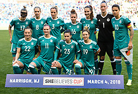 Harrison, N.J. - Sunday March 04, 2018: Germany starting eleven during a 2018 SheBelieves Cup match between the women's national teams of the Germany (GER) and England (ENG) at Red Bull Arena.