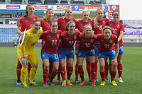20190306 - LARNACA , CYPRUS : Czech team pictured during a women's soccer game between Czech Republic and Mexico , on Wednesday 6 March 2019  at the Antonis Papadopoulos Stadium in Larnaca , Cyprus . . This last game for both teams which decides for places 5 and 6 of the Cyprus Womens Cup 2019 , a prestigious women soccer tournament as a preparation on the Uefa Women's Euro 2021 qualification duels. PHOTO SPORTPIX.BE | STIJN AUDOOREN