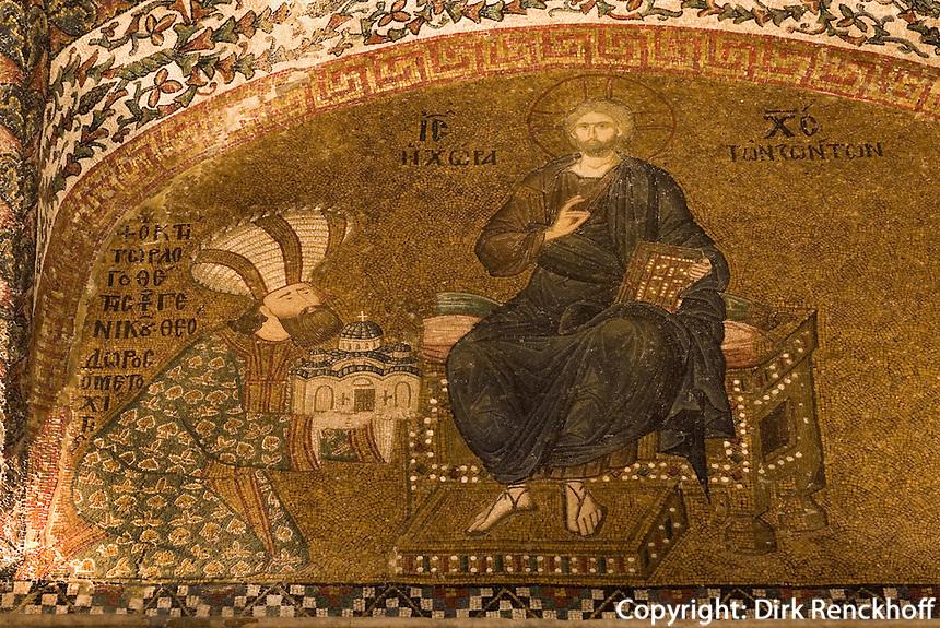 Türkei, in der byzantinischen Chora-Kirche (Kariye Müzesi) in Istanbul , UNESCO-Weltkulturerbe
