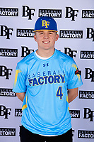 Zachary Farris (4) of Kaneland High School in Dekalb, Illinois during the Baseball Factory All-America Pre-Season Tournament, powered by Under Armour, on January 12, 2018 at Sloan Park Complex in Mesa, Arizona.  (Mike Janes/Four Seam Images)