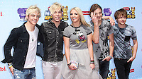 LOS ANGELES, CA, USA - APRIL 26: Ross Lynch, Riker Lynch, Rydel Lynch, Rocky Lynch, Ellington Ratliff, R5 at the 2014 Radio Disney Music Awards held at Nokia Theatre L.A. Live on April 26, 2014 in Los Angeles, California, United States. (Photo by Xavier Collin/Celebrity Monitor)