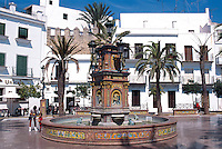 Spanien, Andalusien, Brunnen in Vejer de la Frontera