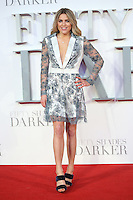 """Olivia Cox<br /> at the """"Fifty Shades Darker"""" premiere, Odeon Leicester Square, London.<br /> <br /> <br /> ©Ash Knotek  D3223  09/02/2017"""