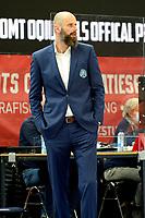 10-04-2021: Basketbal: Donar Groningen v ZZ Leiden: Groningen, Leiden coach  Geert Hammink