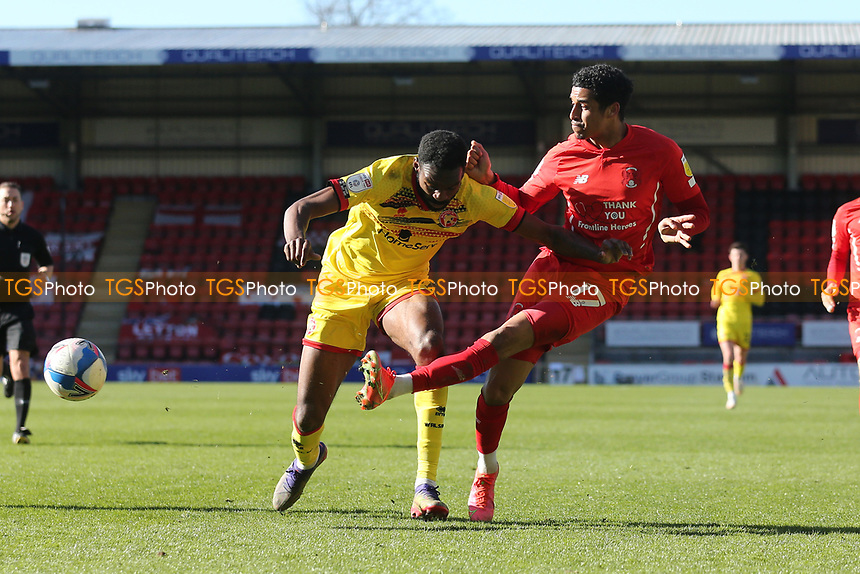 Louis Dennis of Leyton Orient goes close during Leyton Orient vs Walsall, Sky Bet EFL League 2 Football at The Breyer Group Stadium on 5th April 2021