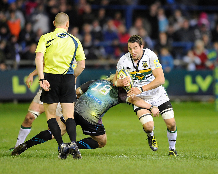 Phil Dowson of Northampton Saints during the LV= Cup second round match between Ospreys and Northampton Saints at Riverside Hardware Brewery Field, Bridgend (Photo by Rob Munro)
