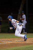 AZL Dodgers designated hitter Sam McWilliams (16) starts down the first base line during an Arizona League game against the AZL White Sox at Camelback Ranch on July 3, 2018 in Glendale, Arizona. The AZL Dodgers defeated the AZL White Sox by a score of 10-5. (Zachary Lucy/Four Seam Images)