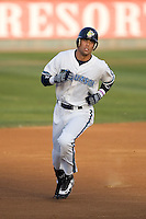 August 4, 2009: Everett AquaSox's Matthew Cerione rounds the bases after hitting his first professional home run during a Northwest League game against the Boise Hawks at Everett Memorial Stadium in Everett, Washington.