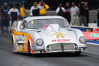 Sept. 18, 2011; Concord, NC, USA: NHRA pro mod driver Melanie Troxel during the O'Reilly Auto Parts Nationals at zMax Dragway. Mandatory Credit: Mark J. Rebilas-