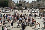 Tourists Trafalgar Square London Uk 2013, 2010s