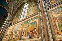 Italien, Umbrien, Kirche San Francesco in Assisi , UNESCO-Weltkulturerbe