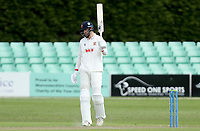 Paul Walter of Essex celebrates scoring fifty runs during Worcestershire CCC vs Essex CCC, LV Insurance County Championship Group 1 Cricket at New Road on 30th April 2021