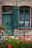 Europe/France/Nord-Pas-de-Calais/59/Nord/Bergues: Façade maison flamande rue du Coq