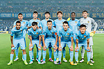 Jiangsu FC squad pose for team photo during the AFC Champions League 2017 Round of 16 match between Jiangsu FC (CHN) vs Shanghai SIPG FC (CHN) at the Nanjing Olympic Stadium on 31 May 2017 in Nanjing, China. Photo by Marcio Rodrigo Machado / Power Sport Images