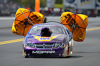 Sept. 18, 2011; Concord, NC, USA: NHRA pro stock driver Vincent Nobile during the O'Reilly Auto Parts Nationals at zMax Dragway. Mandatory Credit: Mark J. Rebilas-