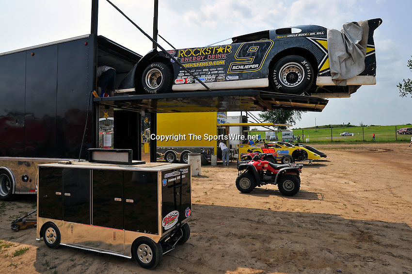 Aug 5, 2010; 3:07:02 PM; New Richmond, WI., USA; The 23rd Annual USA Nationals presented by U.S. Steel Corporation running a 50,000-to-win World of Outlaws Dirt Late Model Series sanctioned event at Cedar Lake Speedway.  Mandatory Credit: (thesportswire.net)