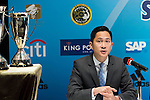 (L-R) Wayne Fong, Head of Corporate Affairs of Citi, attends the press conference for the HKFC Citi Soccer Sevens Hong Kong 2017 at the Hong Kong Football Club on 07 February 2017 in Hong Kong, China. Photo by Victor Fraile / Power Sport Images