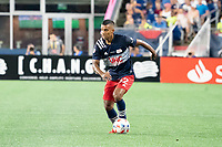 FOXOBOROUGH, MA - AUGUST 21: Christian Mafla #32 of New England Revolution during a game between FC Cincinnati and New England Revolution at Gillette Stadium on August 21, 2021 in Foxoborough, Massachusetts.