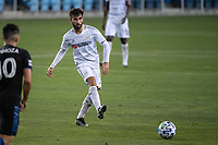 SAN JOSE, CA - NOVEMBER 04: Diego Rossi #9 of the Los Angeles FC passes the ball during a game between Los Angeles FC and San Jose Earthquakes at Earthquakes Stadium on November 04, 2020 in San Jose, California.