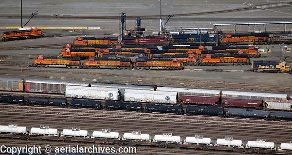 aerial photography BNSF Railyard, Richmond, Contra Costa county, California